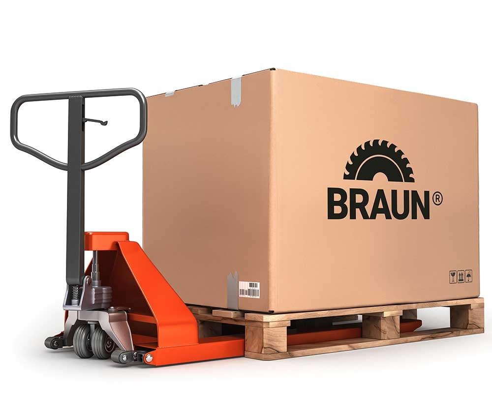 Logistik, Lieferung und Reparatur Ihrer Maschinen